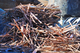Copper pile waiting to be sorted